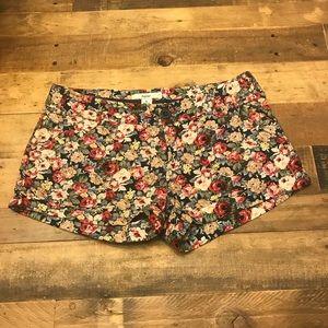 Papaya Floral Shorts Size Small